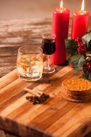 comida e bebida de natal foto