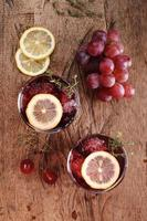 bebida de verão uva vermelha