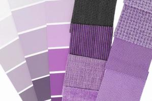 tapeçaria de tapeçaria seleção de cores para interior foto