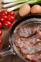 fritou o bacon. foto