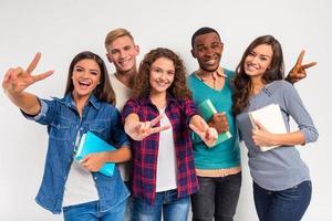 grupo de estudantes de pessoas
