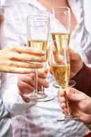 champanhe borbulhante foto