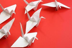 guindastes de origami foto
