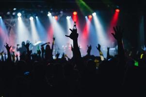 multidão de concertos foto