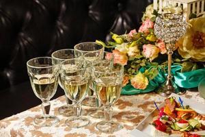 bebidas na recepção foto