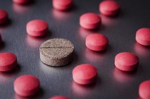 comprimidos vermelhos foto