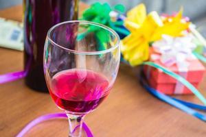 copo de bebida exótica foto