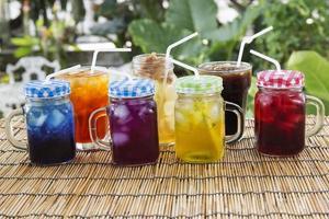 bebida gelada de estilo tailandês