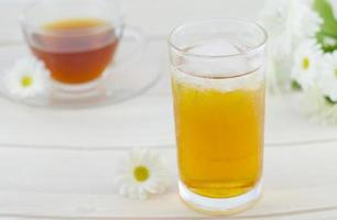 chá gelado, bebida gelada foto
