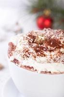 bebida de chocolate quente de natal