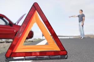 triângulo de aviso foto