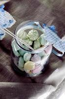 frascos de doces de chá de bebê de cor