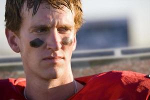 close-up de jogador de futebol foto