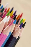 conjunto de lápis colorido foto