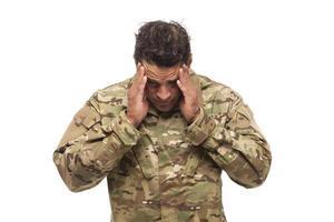 soldado do exército estressado foto
