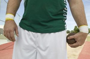 arremessador de peso masculino foto