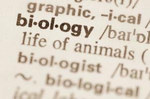 definição de dicionário de biologia da palavra
