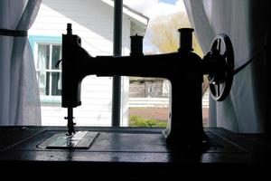 máquina de costura tradicional foto