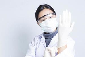 cientista mulher: vestir-se para a ação foto