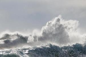 vagues de tempête foto