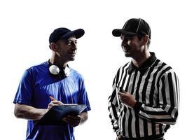 árbitro de futebol americano e treinador foto
