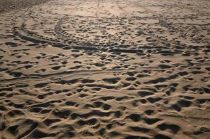 trilhas na areia foto