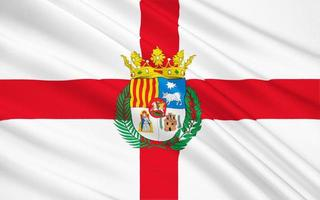 bandeira de teruel - província no leste da espanha foto