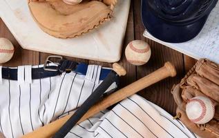 equipamento de beisebol foto