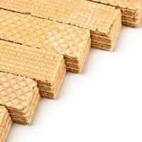 linha de waffles crocantes foto