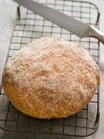 pão artesanal rústico foto