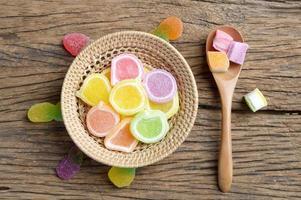sobremesa doce de geléia foto