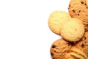 biscoito em fundo branco foto