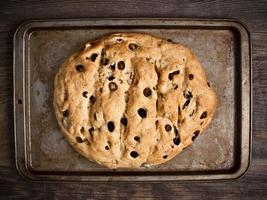 pão de azeitona italiana rústica