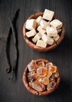 palitos de açúcar e baunilha