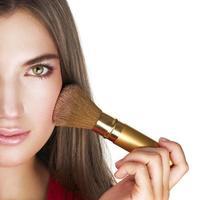beleza com aparência de maquiagem natural perfeita foto