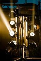 luzes do palco foto