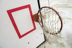 colapso de basquete do tufão foto