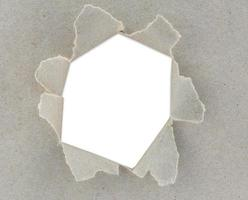 papel rasgado, espaço para cópia