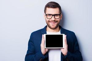 Copie o espaço em seu tablet.