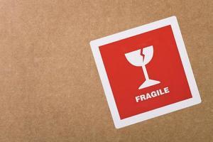 adesivo frágil com espaço de cópia foto
