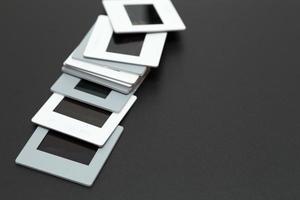 Diapositivos de filme de slides de 35 mm com espaço de cópia foto