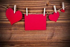 etiqueta vermelha com cópia espaço e moldura foto