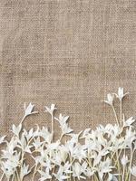 design de moldura flor com conceito natural de espaço de cópia foto