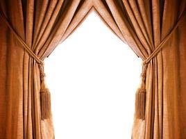 cortina de luxo com um espaço para texto no meio foto