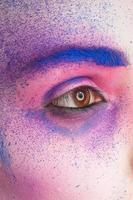 tinta de maquiagem foto