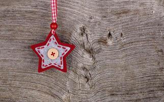 tecido vermelho, estrela, feliz natal, decoração, rústico, madeira, backgroun foto
