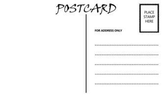 modelo de cartão postal em branco vazio foto
