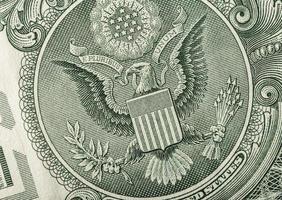 notas de águia do dólar close-up foto