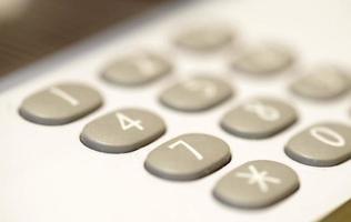 close-up do teclado do telefone foto