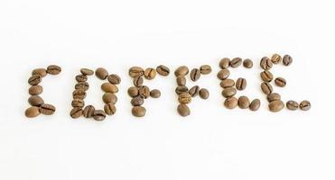 grãos de café isolados foto